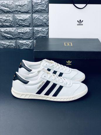 Кожаные! Кроссовки Adidas Hamburg Адидас Superstar Stan Smith кеды Топ