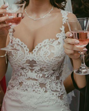Piękna Suknia ślubna rozm. 34-36 (xs-s)