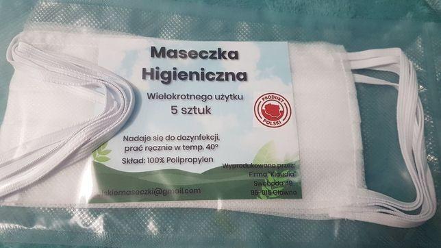 Produkcja maseczki higieniczne wielokrotnego użytku