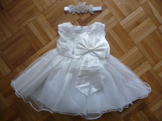 Sliczna sukienka do chrztu r. 70 NOWA