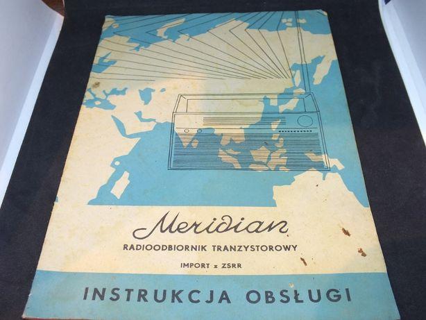 Radio MERIDIAN instrukcja obsługi