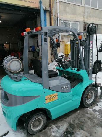 wózek widłowy MAXIMAL 2,5T, triplex 4 m, LPG, 2012 rok