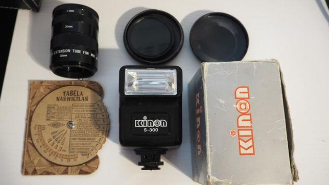 Akcesoria M42/pierścienie/filtry/lampy/aparat: Praktica, Zenit, Smena