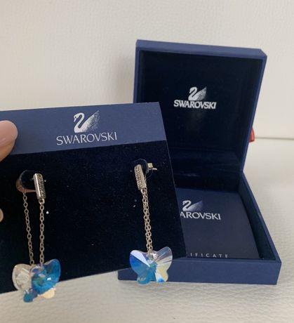 Kolczyki z kryształkami w kształcie motylków Swarowski