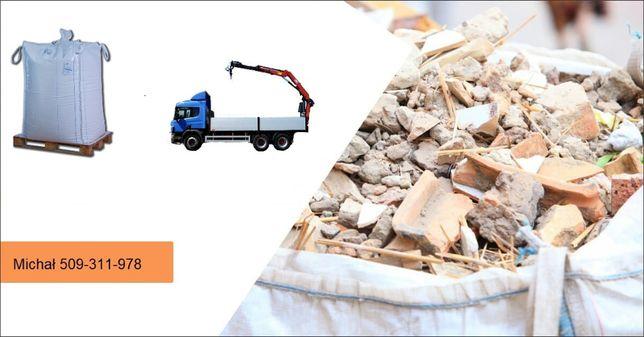 Wywóz gruzu po rozbiórce worki BIG BAG odpady remont utylizacja ŚLĄSK