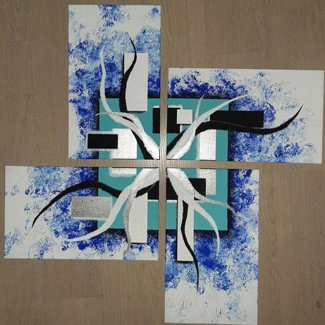 Модульная картина (4 части) Акрил Абстракция Selen