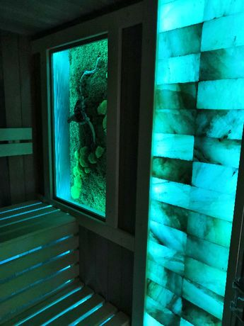 Sauna fińska sucha kombi podczerwień infrared bania halodarium