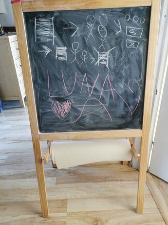 Tablica 3w1 Ikea, czarna, biała, sztaluga