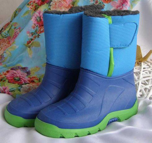 buty kozaki śniegowce nowe 34 35 zima ciepłe 22cm
