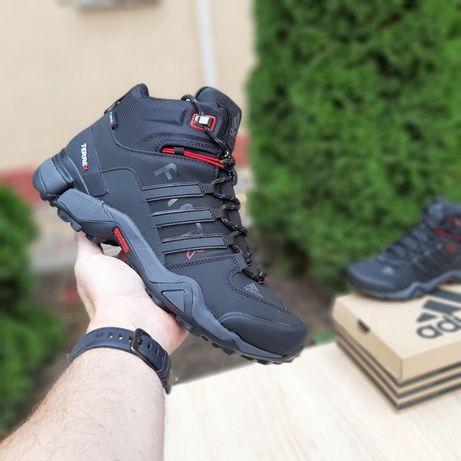 3637 Adidas Fast кросовки Мужские зимние сапоги с мехом адидас чёрные