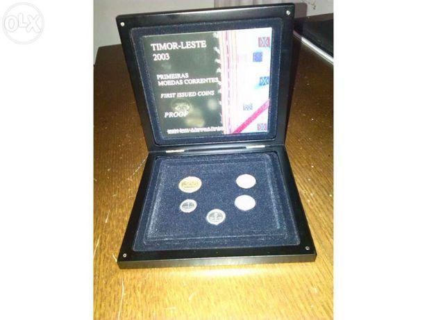 Coleção moedas em PROOF Timor Leste