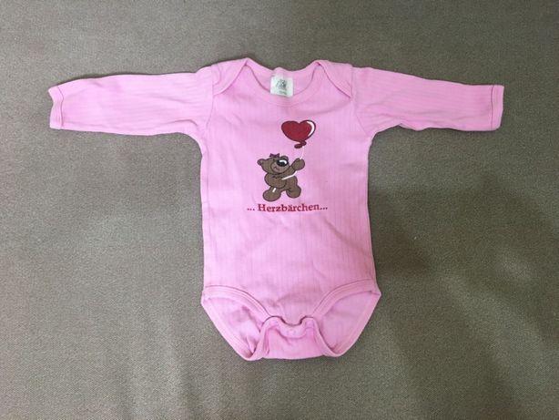 Бодики на девочку 0-3 месяца с рукавом и без.