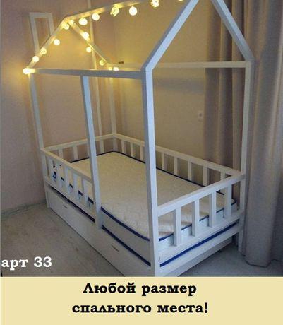 Кровать домик детская из ольхи.Дом.Кроватка.Ліжечко арт 25