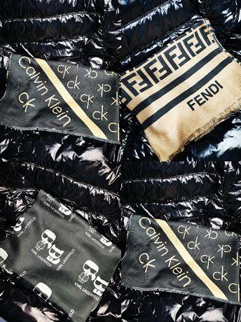Szal Karl Lagerfeld Calvin Klein Fendi nowe logowane bawełna nowośćhit