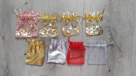 Woreczki na biżuterię torebka organza