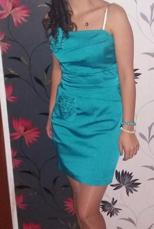 Sukienka morska r 38, sylwester, wesele