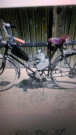 Rower ukraina + silnik spalinowy