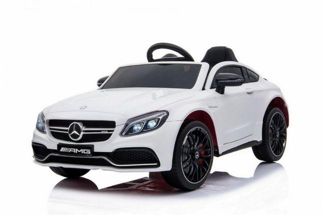 Oryginalny samochód Mercedes Benz C63 AMG na akumulator