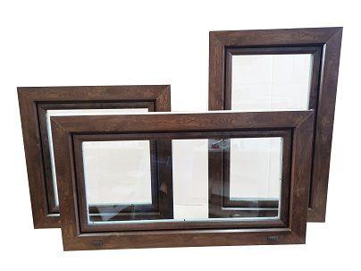 Okno inwentarskie 100x60 orzech okno_NOWE_UCHYLNE