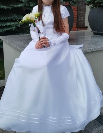 Sukienka komunijna 122 128, bolerko, buty, dodatki