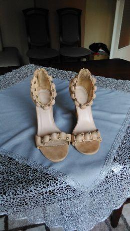 Sandały damskie buty szpilki Exquily 37