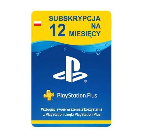 PlayStation Plus 365dni 12mies. PSN subskrypcja