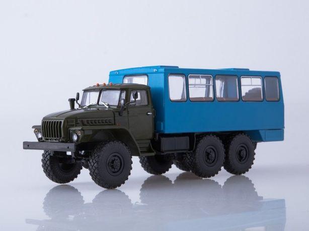 Модель 1/43 Грузовик Урал-4320 НефАЗ-42112 вахта фирма Автоистория