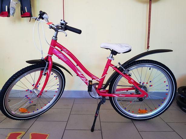 Rower dla Dziewczynki na kołach 24 cali. KROSS. Super Okazja!