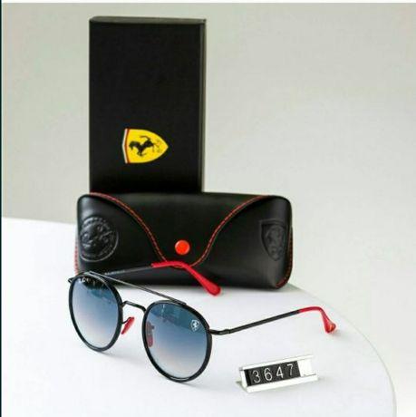 Солнцезащитные очки Ray-Ben, люксовая оптика, брендовый чехол, салфетк