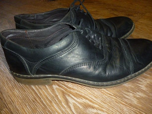 Кожаные подростковые туфли р.39