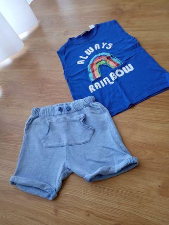 Zara spodenki szorty i koszulka 104 98