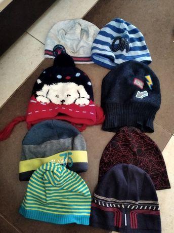 8 sztuk czapeczek dla chłopca,rozmiary od 48 do 50
