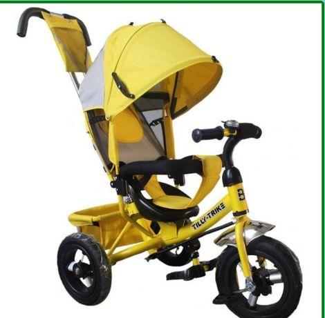 Трехколесный детский велосипед с родительской ручкой Tilly Trike T-364