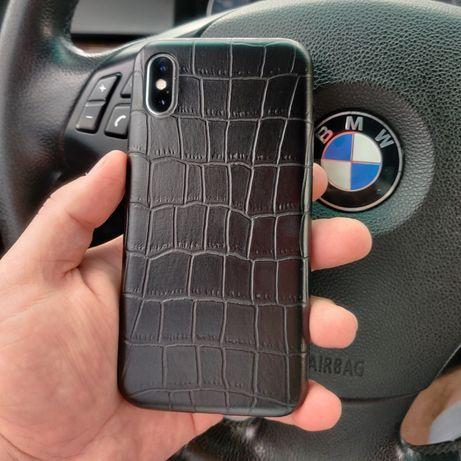 Кожаный чехол iPhone 7/8/Plus/X/XS/XR/11/12/Pro/Max Leather case