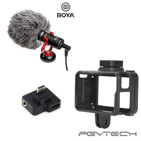 Microfone BOYA BY-MM1 + Moldura + Adaptador Microfone Osmo Action