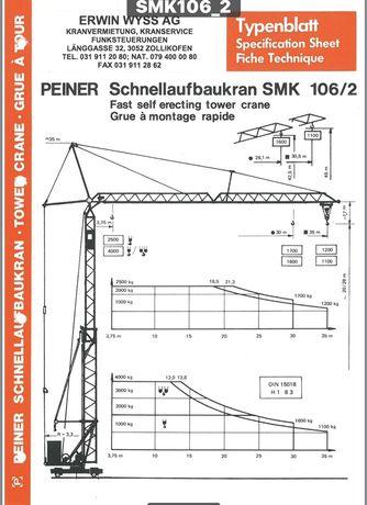 Продам самораскладной башенный кран Peiner SMK 106/2 (Liebherr 35k)