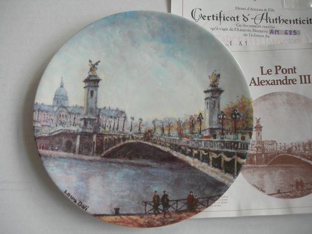 Тарелка, Мост Александра III в Париже, Лимож, Франция