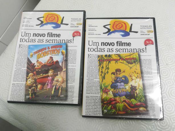 DVD Novos Mowgli e Peq e grandes Monstros