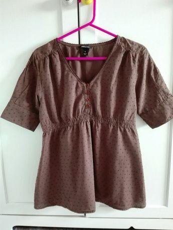 Brązowa bluzka ciążowa H&M MAMA rozmiar S