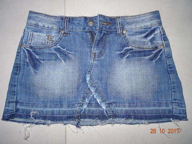 Spódnica mini jeansowa 28 M 38 miniówka jeans