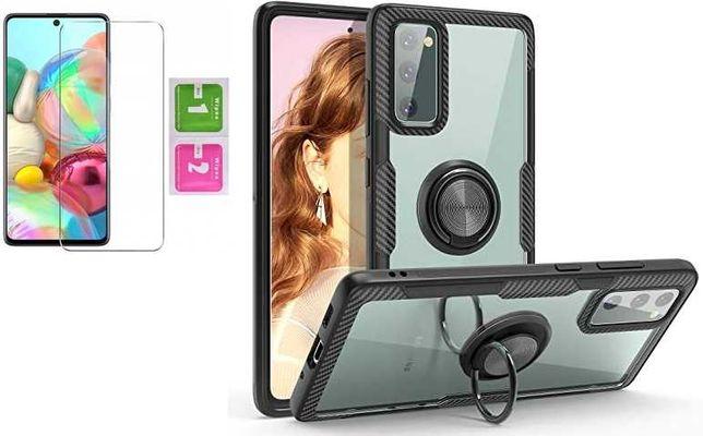 Etui Pancerne Carbon Clear do Samsung Galaxy S20 FE 5G + Szkło
