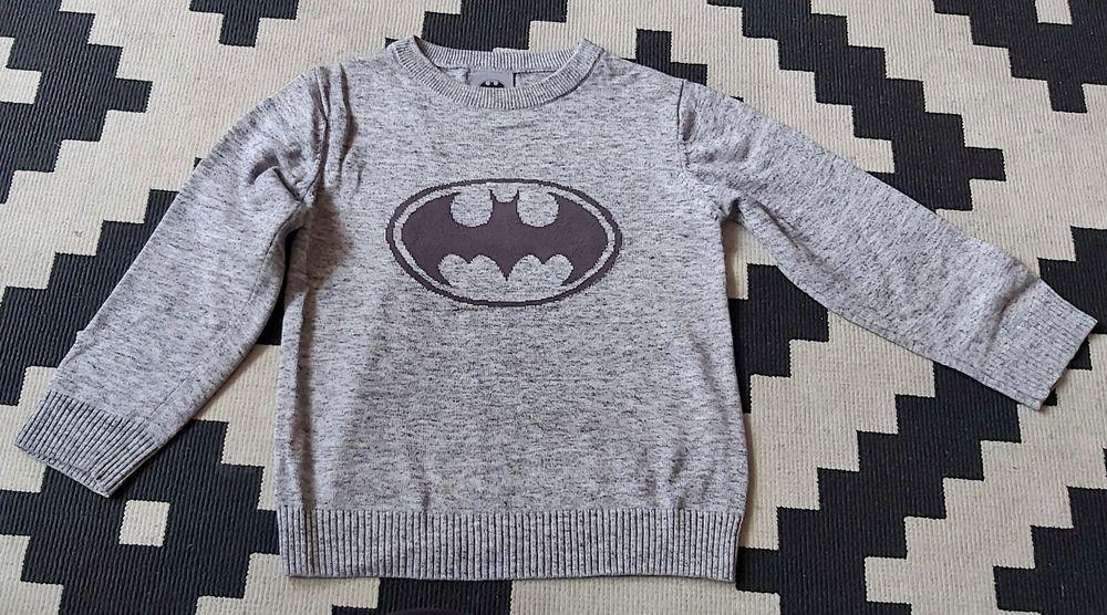 Szary sweter dziecięcy Batman 104 Skierniewice - image 1