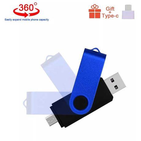 Pendrive OTG 64GB podwójnego zastosowania czarny + gratis