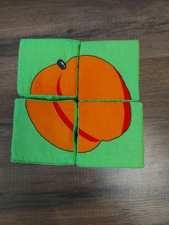 Мягкие кубики фрукты