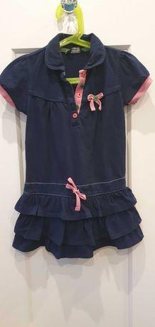 Sukienka dresowa z falbanami
