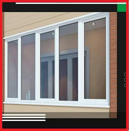 Лоджия окна пластиковые смонтируем качественно доставим бесплатно
