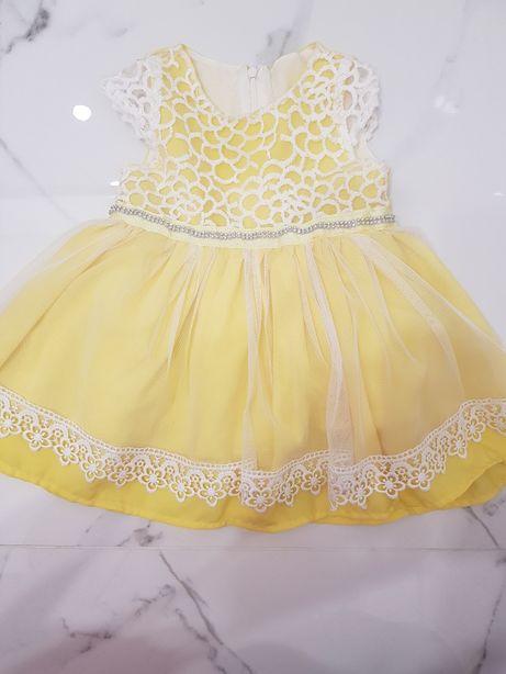 Sukienka miss marine urodziny, święta 80 cm