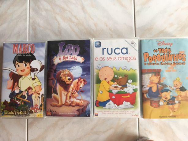 VHS - Marco; O Rei Leão; Ruca; Os três porquinhos-da-índia