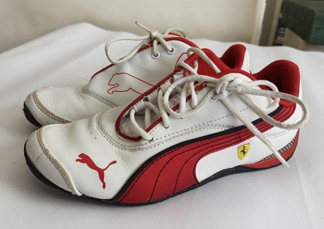 FERRARI Puma buty dziecięce skórzane białe rozm. 33 / 20cm