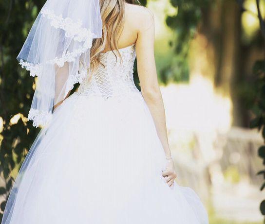 Suknia Ślubna Księżniczka Bolerko Ślubne 34 36 38